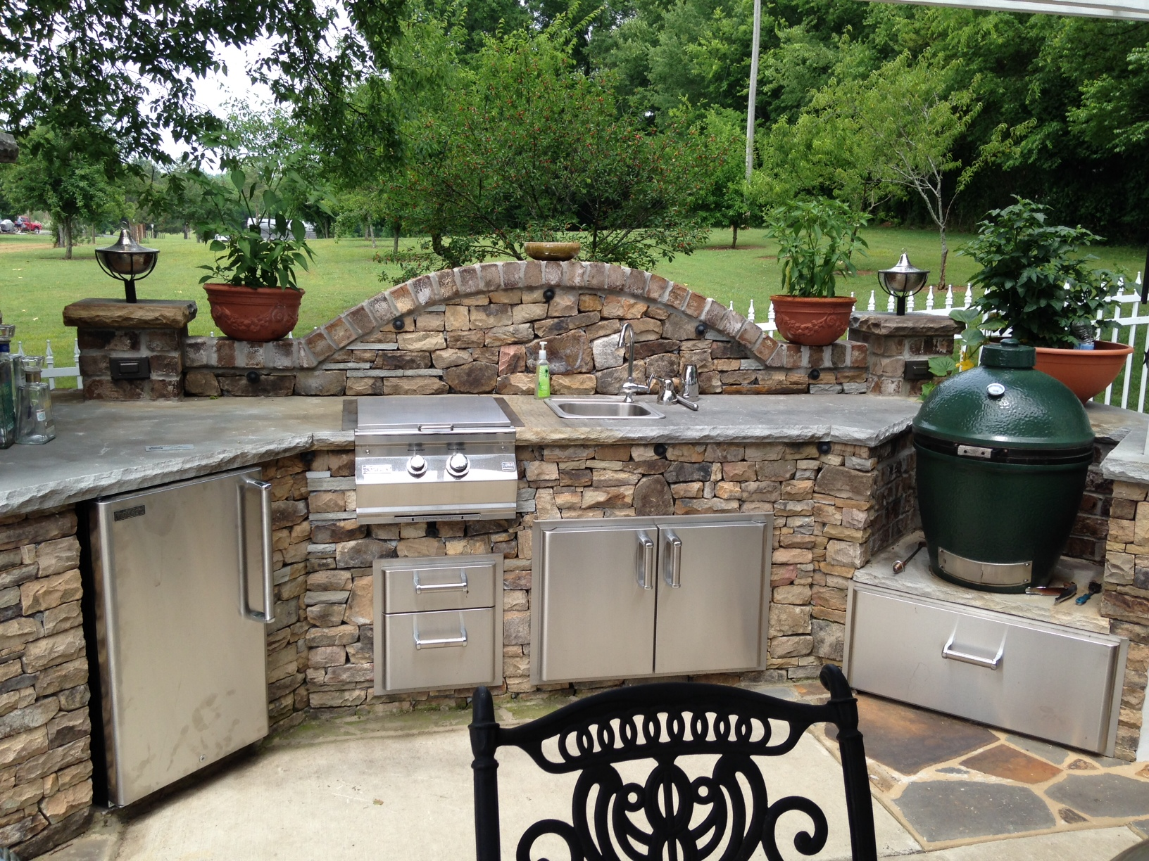 Outdoor Grill Selber Bauen : Big Green Egg Outdoor Kitchen  Fine?s Gas Blog