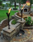 Fin Style Natural Gas Tiki Torches Permanent Mount Fine