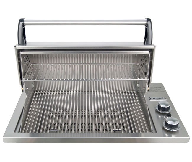 Countertop Gas Grill Outdoor : Fire Magic Deluxe Gourmet Drop-In Grill Fines Gas