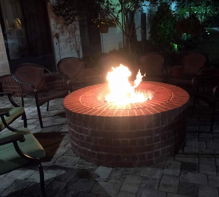 Stainless Steel 24 Inch Gas Fire Pit Ring Kit