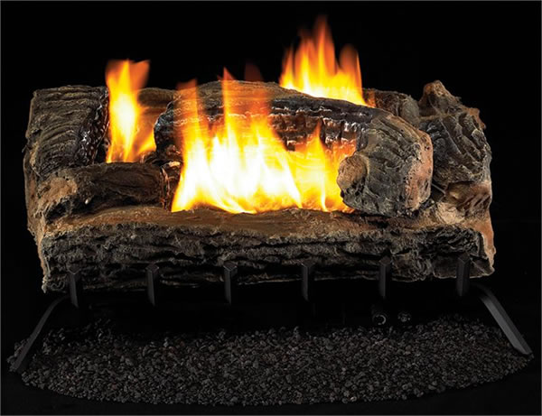 Vantage Hearth See Thru 27 Inch Vent Free Gas Log Remote