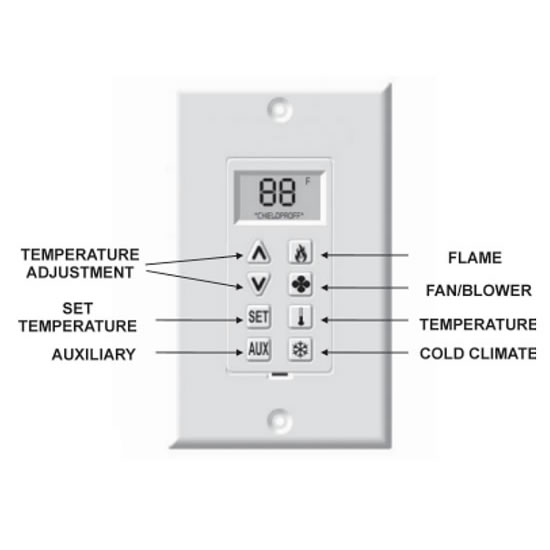 Heat-N-Glo Multi Functional Wall Control | Fine's Gas