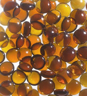 Amber Speckled Glass Pebbles For Luminary Fireplace