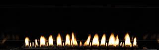 Boulevard Matte Black Fireplace Liner