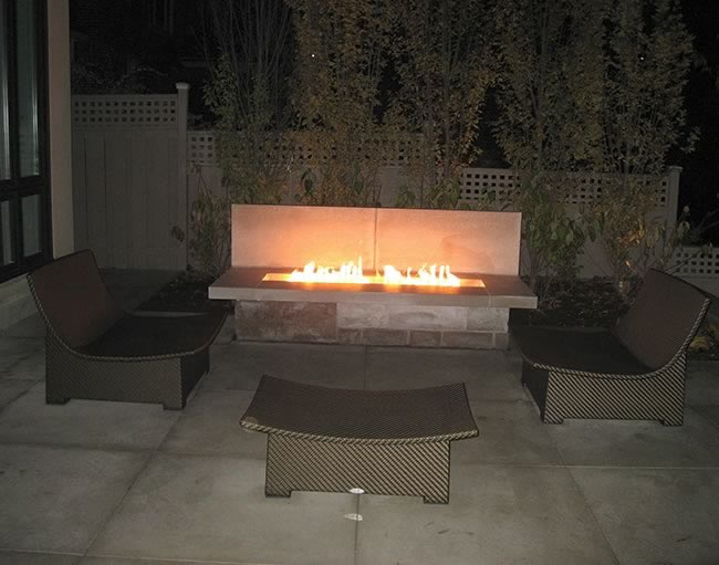 Electronic Ignition Rectangle Gas Fire Pit Kits