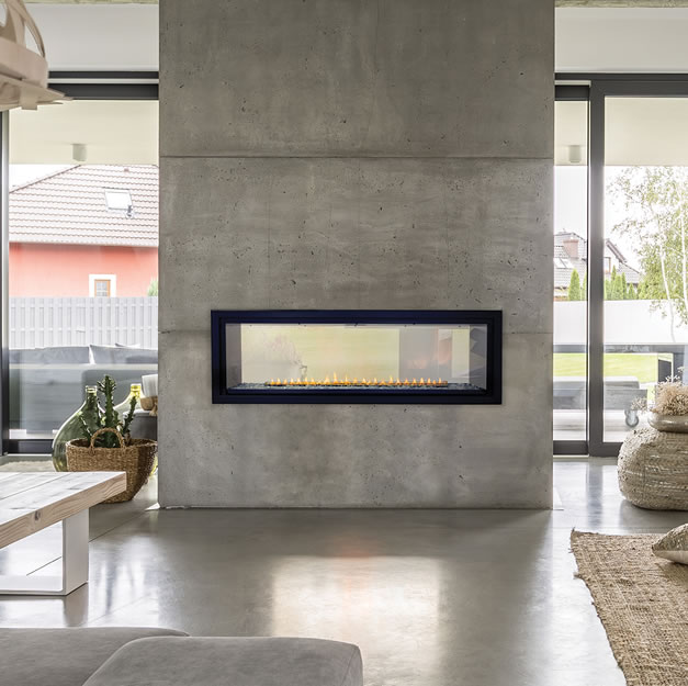 White Mountain Hearth Boulevard See-Through Linear Fireplace ...
