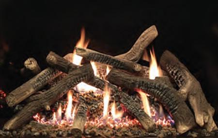 Traditional Charred Oak Log Set