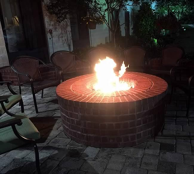 25 inch gas fire pit kit btu with electronic ignition