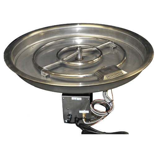 37 Inch Gas Fire Pit Kit 300,000 BTU with Electronic Ignition