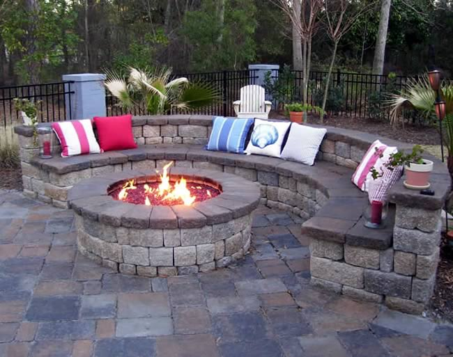 square fire pit kit lowes menards instructions ring deluxe display stone home depot