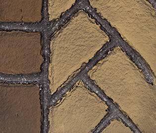 Fortress Fireplace Herringbone Brick