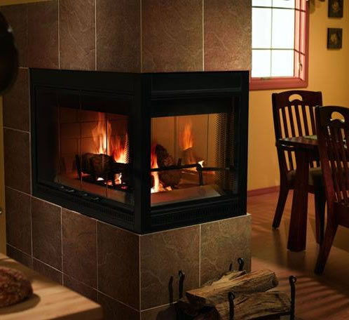 Heatilator 36 inch Three-Sided Wood Burning Fireplace - Heatilator 42 Inch Three-Sided Wood Burning Fireplace