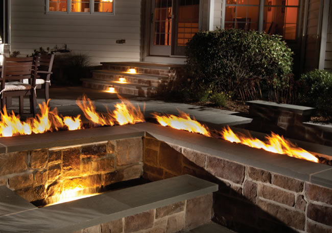 36 Trough Style Linear Match Lit Fire Pit Kit Fine S Gas