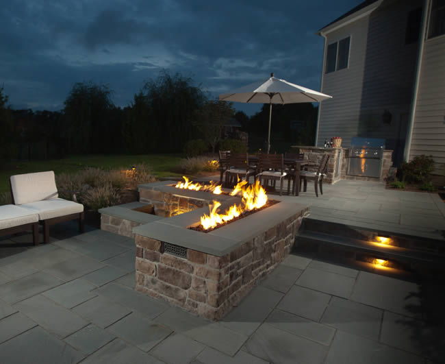 48 Trough Style Linear Match Lit Fire Pit Kit Fine S Gas