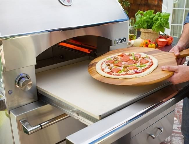 Countertop Pizza Oven Outdoor : Lynx Outdoor Built-In / Countertop Pizza Oven Fines Gas