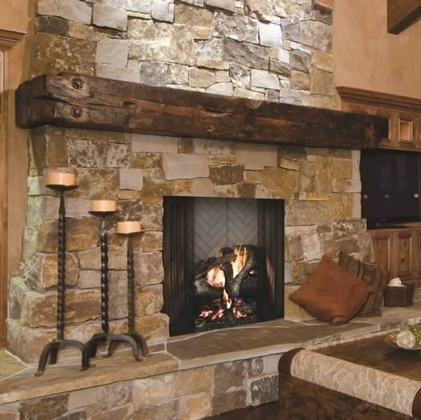 The Ashland over-sized 42 wood burning fireplace by Majestic offers a custom masonry fireplace look but without the expense of a real masonry fireplace