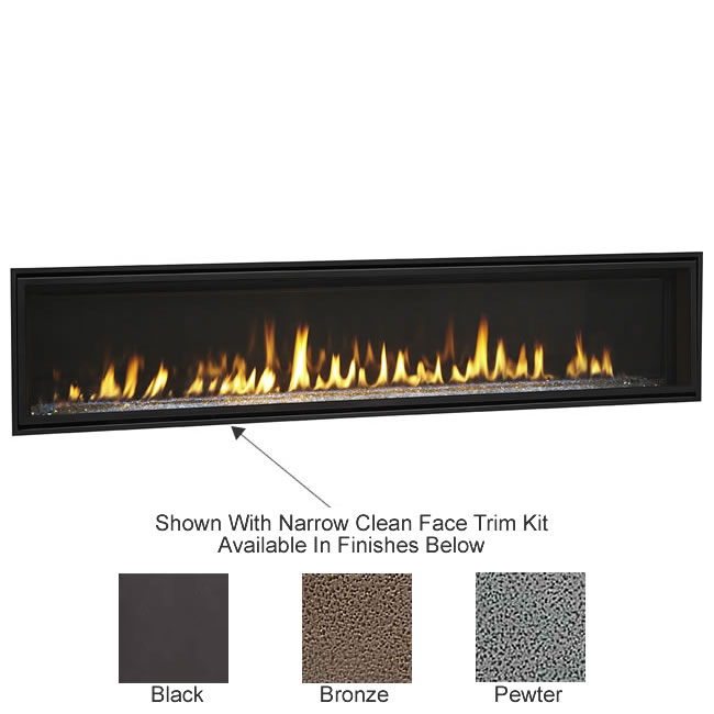 Echelon II Wide View 72 Inch Fireplace by Majestic | Fine's Gas