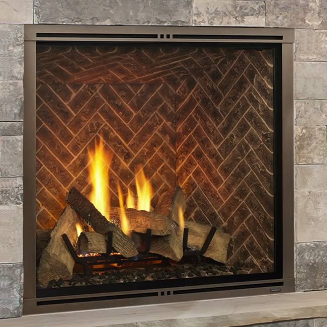 Majestic Marquis II Clean Face Fireplace Comes equipped with the RC400 IntelliFire Touch touchscreen full function hand held remote control with large LCD screen for simple operation