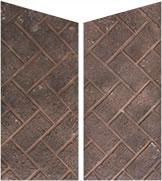 Modern Flames Herringbone Brick
