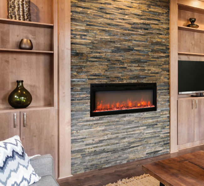 Wonderful ... Modern Flames Spectrum Flush Mount Electric Fireplace ...
