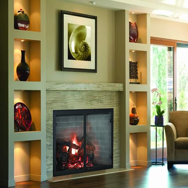 Majestic Biltmore 36 Inch Over Sized Wood Burning Fireplace With A Tall Opening