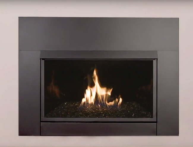 Solstice contemporary vent free fireplace insert for Contemporary fireplace insert