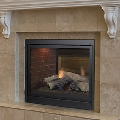 Pearl direct vent see thru fireplace by majestic fine 39 s gas for See thru fireplaces