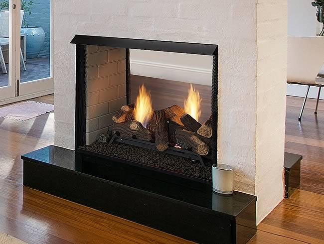 Monessen Vent-Free Clean Face See-Thru Gas Fireplace