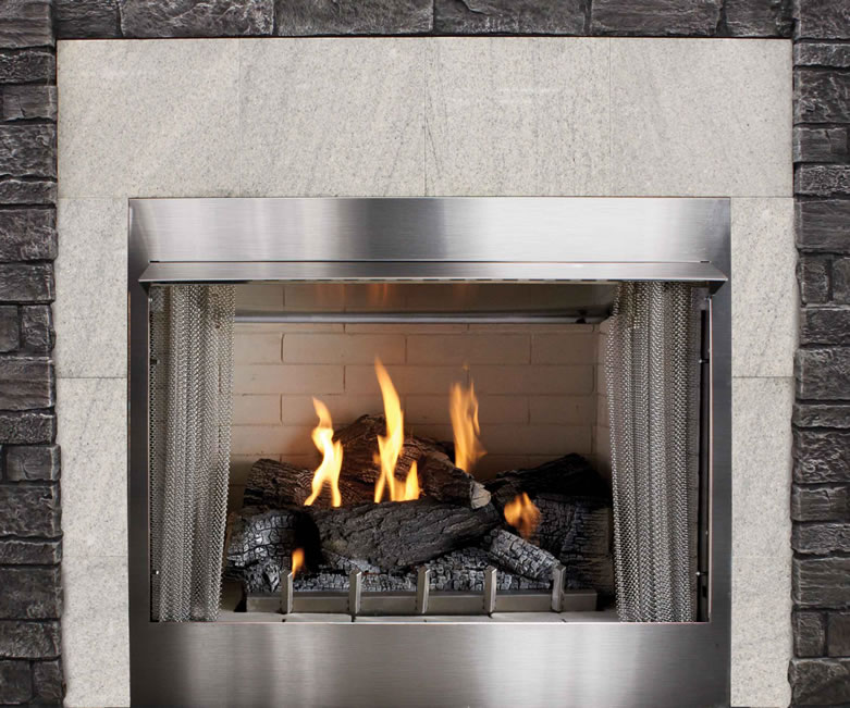 "42"" Outdoor Gas Fireplace Electronic Ignition"