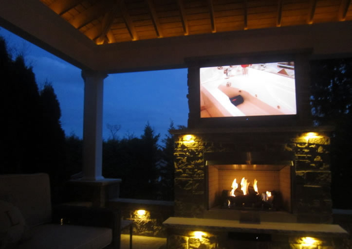 "36"" Outdoor Gas Fireplace Electronic Ignition"