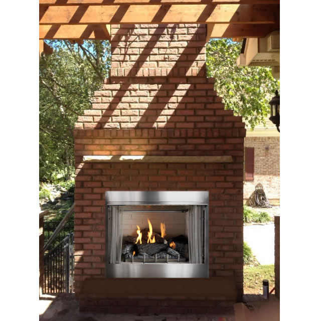 this is a 32 outdoor ventless firebox for 18 vent free gas logs t