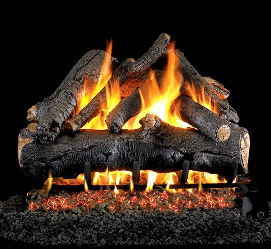 Rh Peterson 30 Inch American Oak Vented Log Set Fine S Gas
