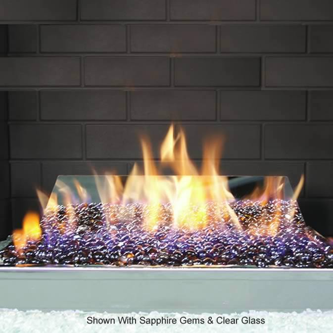 RH Peterson 30 Inch Contemporary Vent Free Glass Fireplace Burner ...