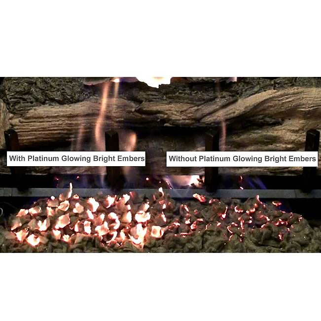 Platinum Glowing Bright Embers For Gas Logs and Fireplaces.