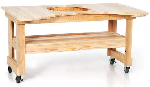 ... Teak Table For Primo Oval XL Grill