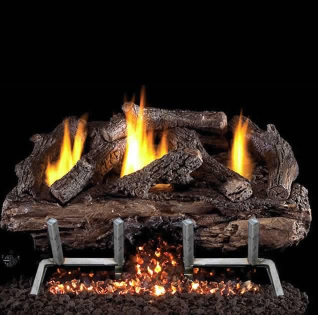 com lp gas outdoor fire pit log kit lava rock uniflame log