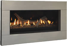 Stainless Steel Face for Serenade Fireplace