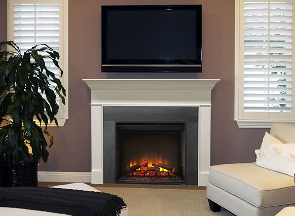... SimpliFire 36  Built In Electric Fireplace