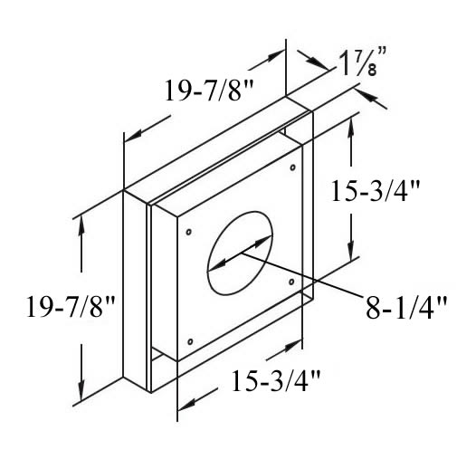 Duravent Vinyl Siding Standoff For 5 X 8 Vent Pipe | Fine's Gas
