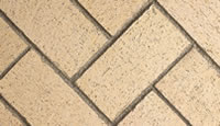 Ivory Herringbone Fire Brick