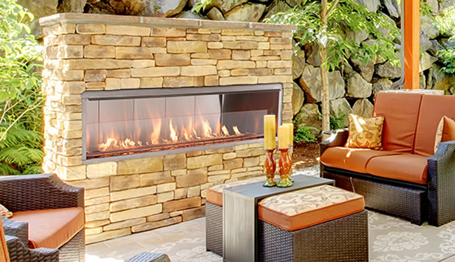 Superior 60 Quot Outdoor Linear Fireplace Fine S Gas