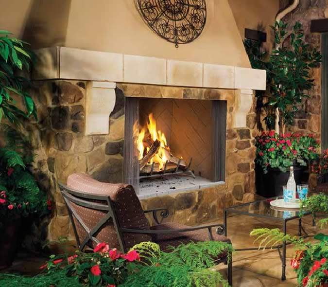 Superior 50   Superior 50  Large Outdoor Wood Fireplace  50  Large Outdoor Wood Fireplace by Superior   Fine s Gas. Large Outdoor Fireplace. Home Design Ideas