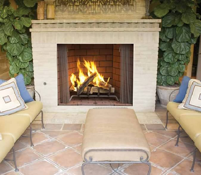 Superior 50  Large Outdoor Wood Fireplace50  Large Outdoor Wood Fireplace by Superior   Fine s Gas. Large Outdoor Fireplace. Home Design Ideas