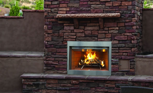 Superior 36 Inch Laredo Outdoor Wood Burning Fireplace