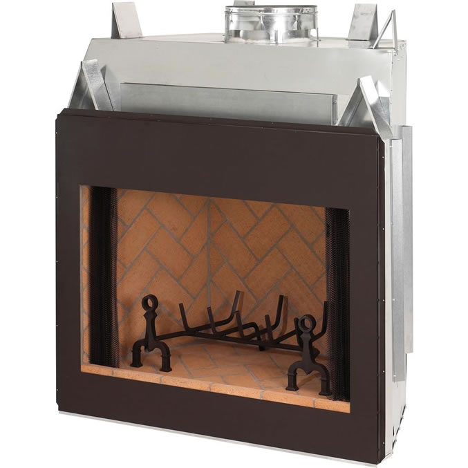 Superior Fireplaces Over Sized 42 Inch Winston Luxury Series Real Masonry Wood Burning Fireplace