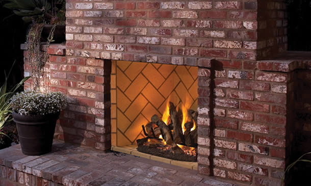 Superior 50 Inch Real Masonry Vent-Free Outdoor Fireplace | Fine's Gas