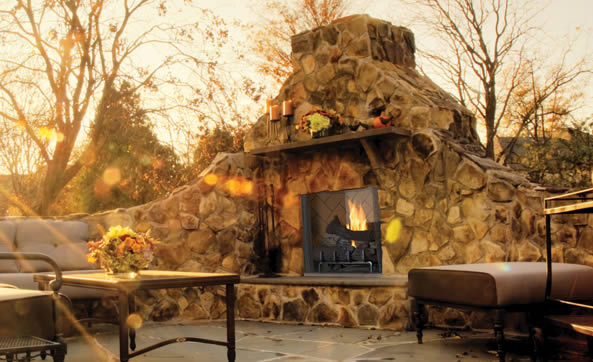 Superior 50 Inch Real Masonry Vent Free Outdoor Fireplace