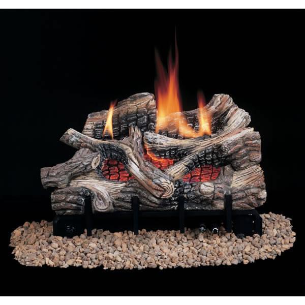 Vanguard Blaze N Glo Gas Log 30 Inch Manual Control