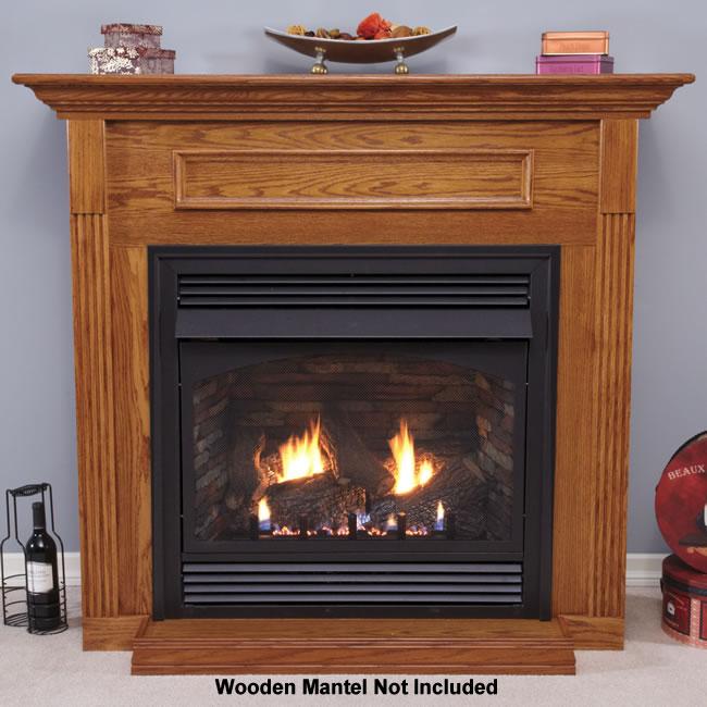 Vail 32 Inch Fireplace System With Slope Burner Design