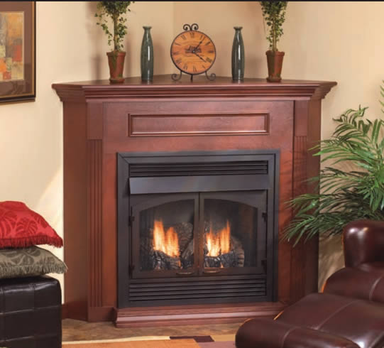 Vail 32 inch Fireplace System with Slope Burner Design | Fine's Gas